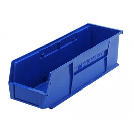Blue Plastic Hang and Stack Bins