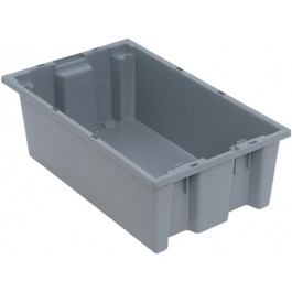 SNT180 Gray Plastic Stack and Nest Tote