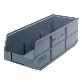 Orange Plastic Bins - Stackable Shelf BIn SSB483