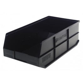 Plastic Stackable Shelf Bins SSB441 Black
