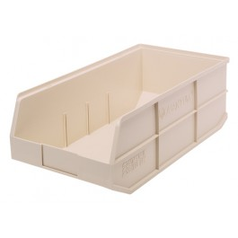 Plastic Stackable Shelf Bin SSB465 Ivory