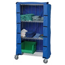 White Cart Cover for Wire Shelving
