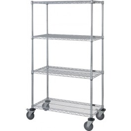4 Wire Shelf Stem Caster Cart