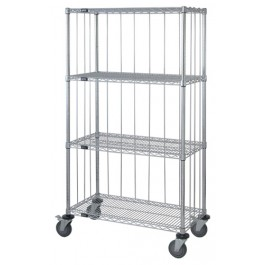 4 Wire Shelf Caster Cart