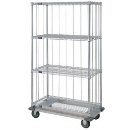 4 Wire Shelf Dolly Base Cart