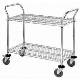 ESD Wire Shelving Utility Cart WRC-2442-2CO