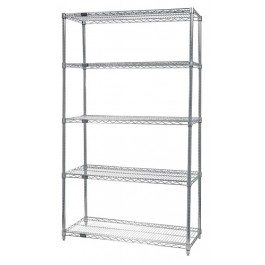 74''H Conductive Chrome 5-Shelf Starter Kits