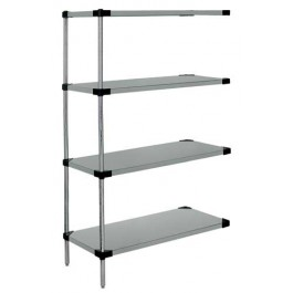 Stainless Steel 4-Solid Shelf Add-On Unit - WRSAD4-74-1448SS