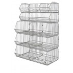 "36"" Stationary Stacking Wire Baskets"