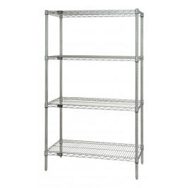 "86""H Stainless Steel 4-Shelf Starter Kits"