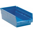 Plastic Shelf Storage Bins QSB102 Blue