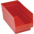 Plastic Storage Bins Red