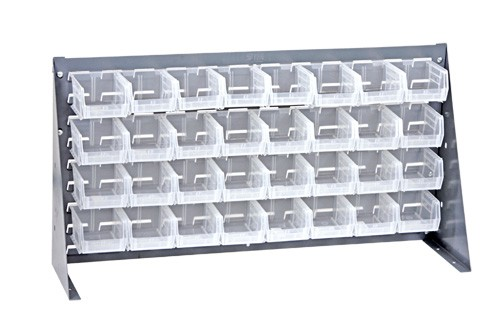Clear Plastic Storage Bench Rack Systems