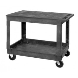 Flat Top Utility Carts with 2 Shelves