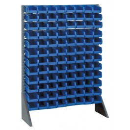 Plastic Storage Blue Plastic Bin Steel Rail Systems