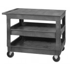 Flat Top Utility Carts with 3 Shelves