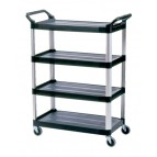 4 Shelf Utility Cart, Open Sided