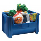 Stacking Toy Storage Container QGH700 Blue