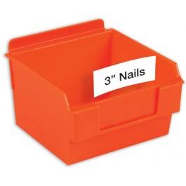 Slatwall Plastic Bin Printable Labels