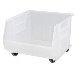 Clear Mobile Plastic Storage Bins
