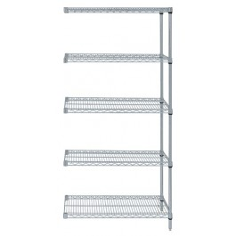 Gray Epoxy Wire Shelving 5-Shelf Add-On Kit