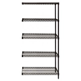 Black Wire Shelving 5-Tier Add-On Unit