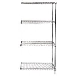 "Chrome Wire Shelving Add-On Kit 24"" x 54"" x 74"""