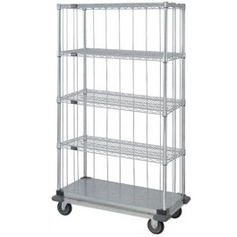 Enclosed Wire & Solid Shelving Carts