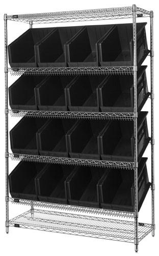 Storage Bin Slanted Wire Shelving Units Wrsl6 74 1848