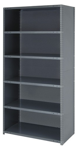 low priced 862c8 4cd3c Heavy-Duty Garage Storage Closed Steel Shelving Unit - All ...