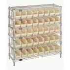 Plastic Storage Bin Wire Shelving Units Ivory